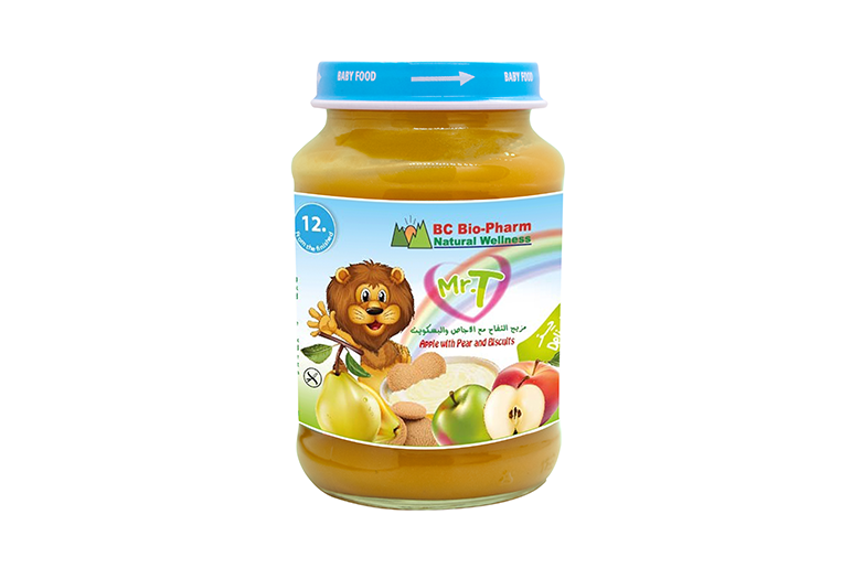 BABY FOOD APPLE, PEAR AND BISCUITS